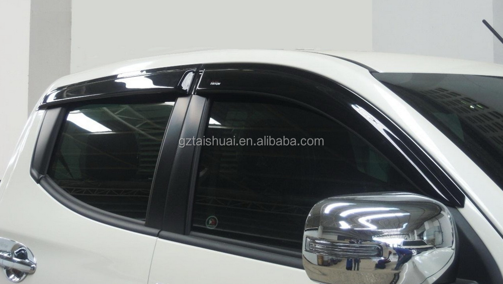 4X4 car accessories door visor rain shield window deflectors for Mitsubishi Triton