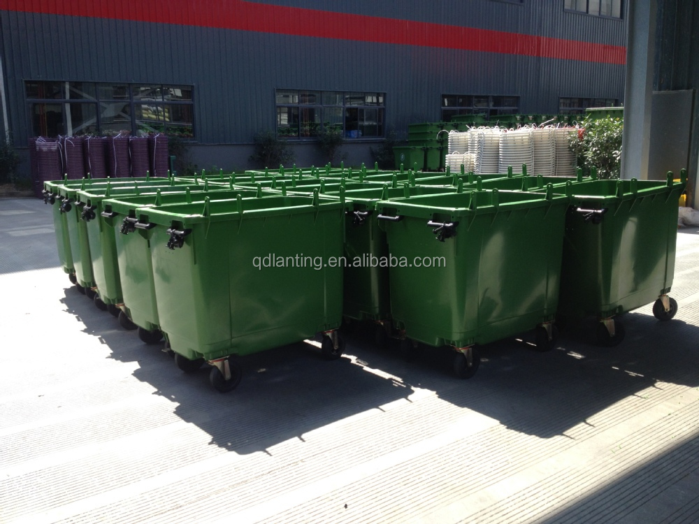 Cheap 1100l/1200l Outdoor Large Plastic Dustbin Trash Can Garbage ...