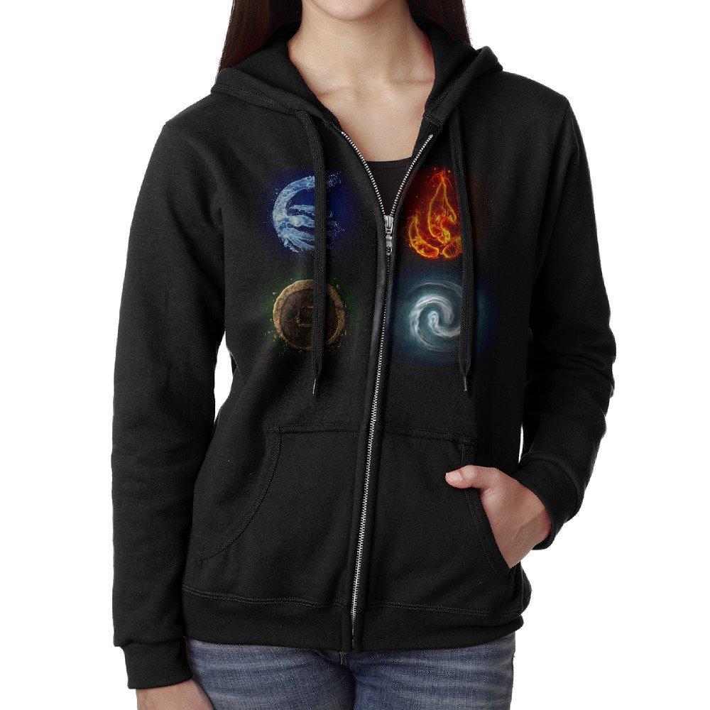 Buy Womens Avatar The Last Airbender Elements Symbols Zip Hoodie