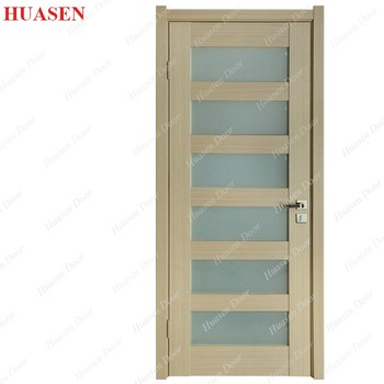 High quality 6 panel interior glass doors with frame