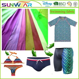 4 Stretch Anti-UV spandex fabric swimming suits fabric beachwear elestano fabric