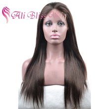 Natural Girls Hair Lace Wig Human Hair Virgin Brazilian Color #2 Ladies' Wigs Silky Straight Lace Front Wigs for Black Women