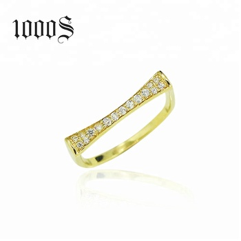 Wholesale Simple Design 9k Real Yellow Gold Women Ring Fashion Style ... 59ab02cee8