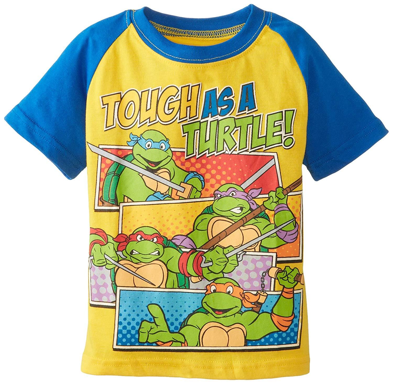 18fda3d5ca6 Get Quotations · Teenage Mutant Ninja Turtles Boys  Short Sleeve Raglan T- Shirt