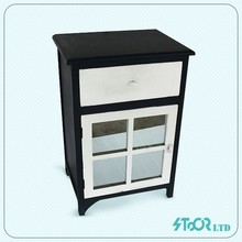 Supplier logo old style fir wood black white chest of drawer