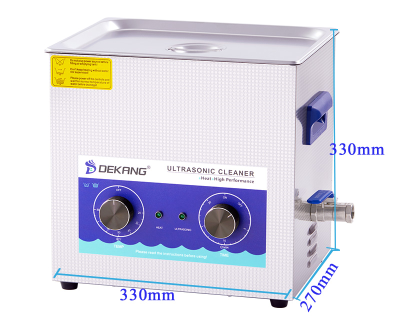10L Smart Mechanical Ultrasonic Tools Cleaner with Heating for parts cleaning