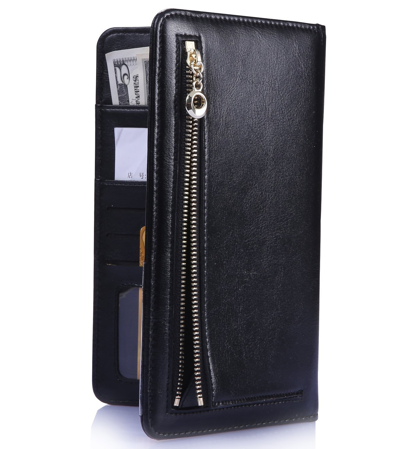 Hot Sale Hotel Guest Leather Restaurant Bill Folder,Guest Check Book Holder with Zipper Pocket