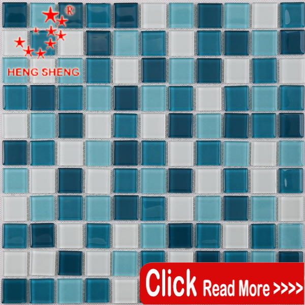 Wholesale blue square mosaic discontinued pool tile for wall