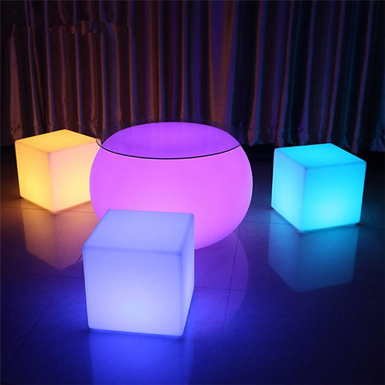 Sentado Muebles De La Barra Rgb Colores Polietileno Led Cubo De Luz ...