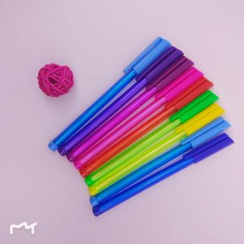 low price triangle colorful ball point pen