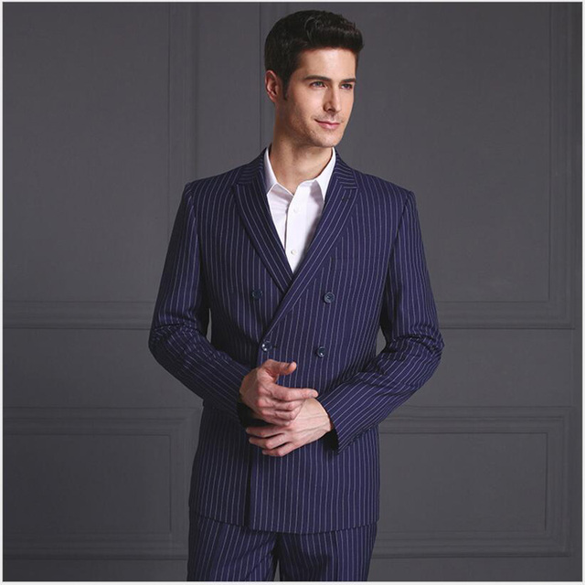 Men double breasted suits blazer latest coat pant designs