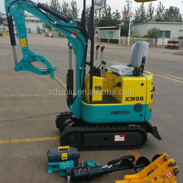 XN08 800kgs mini excavator with rock hammer excavator for sale