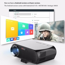 "2017 Full HD 1080P Android Projector 3500Lumens 5.8"" Liquid Crystal Display 1.2~7.5m Projection Distance GP100 Mini Projector"