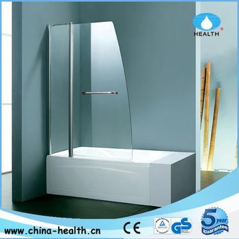 Bathtub Pivot Shower Screen Corner Bath On Acrylic