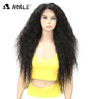 Noble Wigs For Black Women Natural kinky curly Hair 30 Inch Brown Heat Resistant Fiber Long Synthetic Wigs Large Lace Front Wig