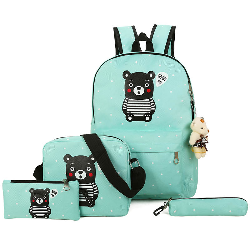 Women Backpack For Teenage Girls School Bags Rucksack Back Pack Canvas  Printing Backpack Set For Children 4756572f4f9ec