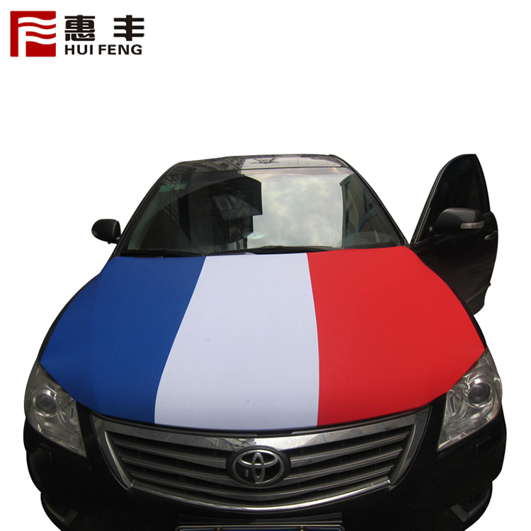 Custom Logo Spandex Car Hood Flag