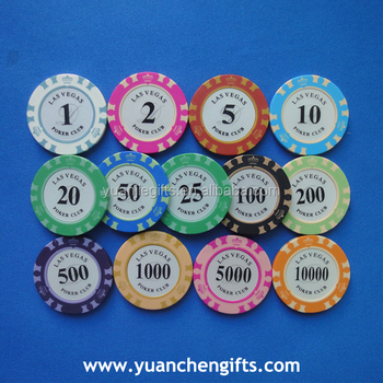 Ceramic custom printed logo cheap poker chips wholesale