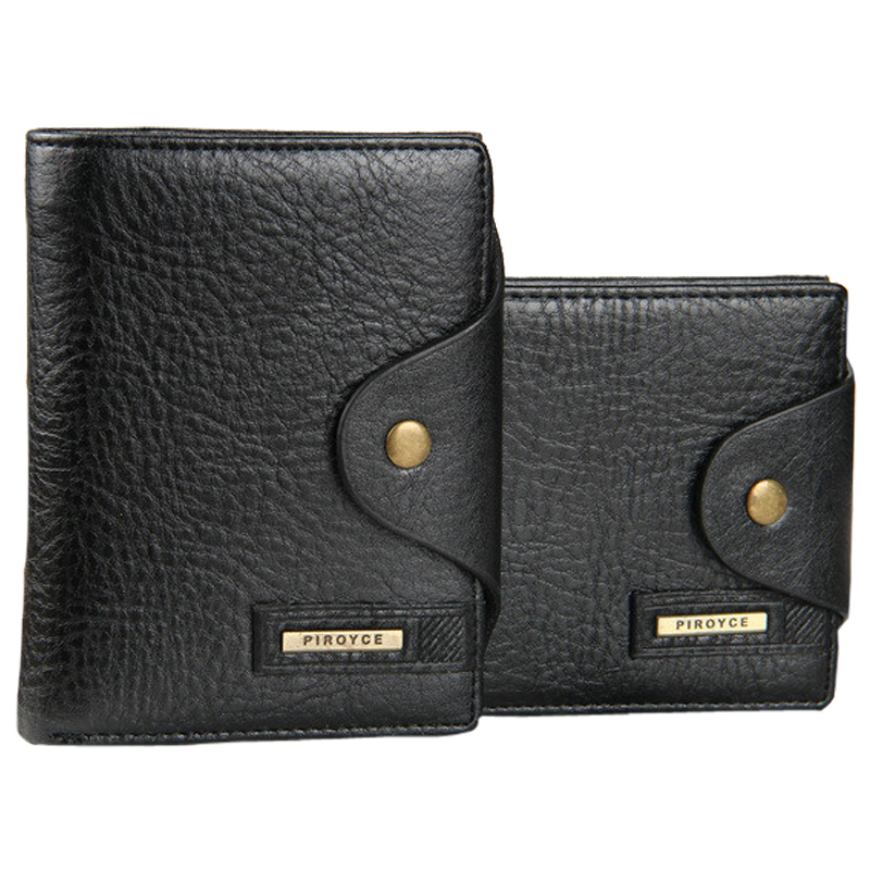 Men Wallets leather Quality Guarantee Leather purse with coin pocket black brwon wallet zipper bag multifunction