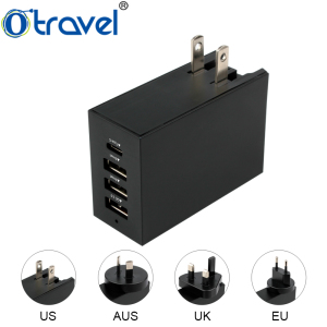 Otravel Travel adapter usb mobile charger Multi Ports USB Desktop Wall Power 5.4A Smart USB Charger