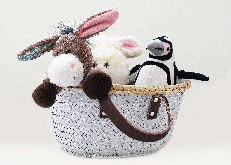 Leon Tico HANDMADE WICKER BASKET | Woven Basket | Gift Hamper | Summer | Storage Basket | Decorative Storage | Home Décor | Fruit Basket | Floral Basket | Decorated Basket | Made in SPAIN