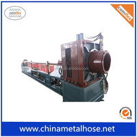 Single wall stainless steel welding corrugated pipe machine
