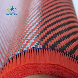 Hybrid of Carbon fiber and aramid fiber fabric industry use composite material