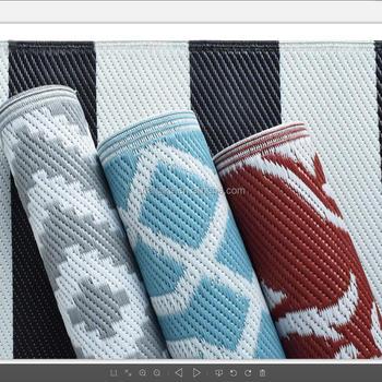 100 Polypropylene Rv Jacquard Patio Mat With Best Price