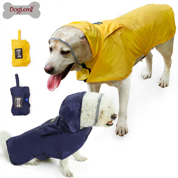Classic Rain coat for Dogs Portable Pet Dog Rain Coat