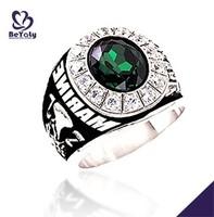 Nautical maine military deep green opal inlay jewelry