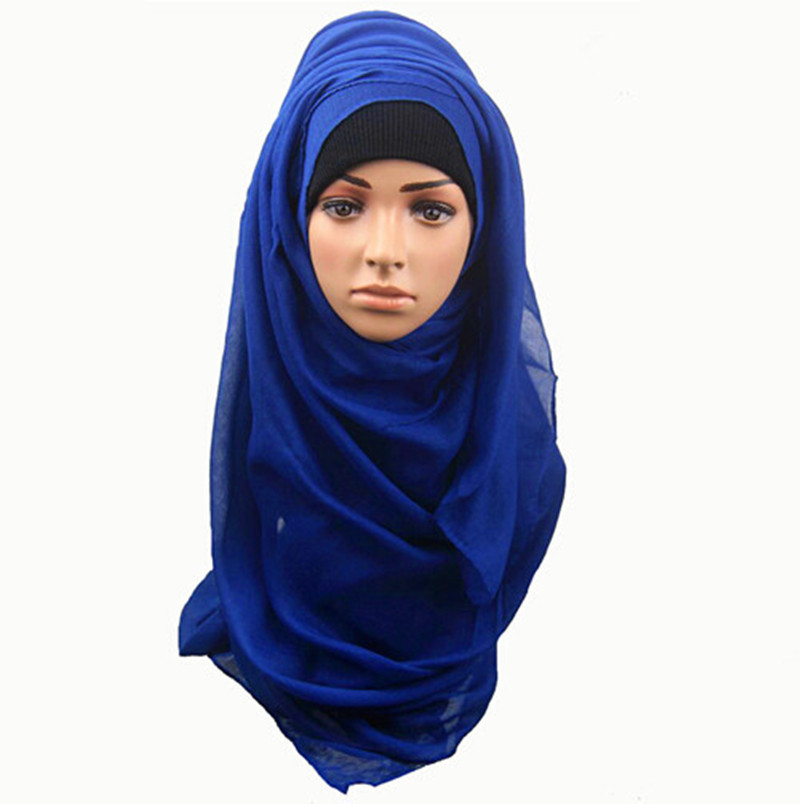 10pcs lot Shawls and scarves solid plain hijab scarf women wraps foulard  viscosecotton maxi shawls 4a27349dd7e