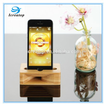 Hot sale natural wooden speaker Docking Station for iphone 7,Mini bamboo speaker,wood Amplifier for iphone 7