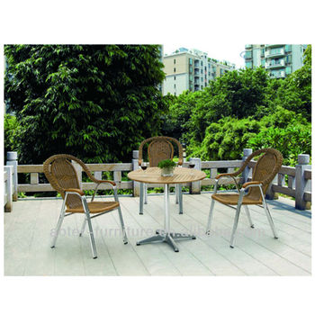 Patio used garden rattan dining set