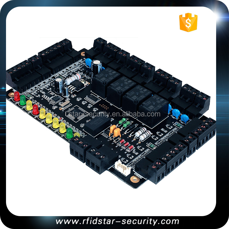 Professional RS485 Access Control Door Board Panel 4 Doors 4 Readers Controller Office TCP IP Network + Extension Board