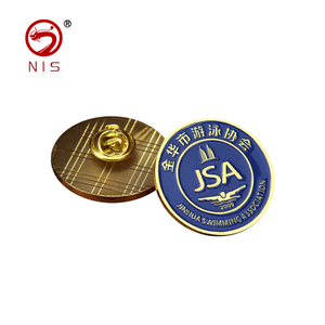 Customized shape hot metal led badge pin