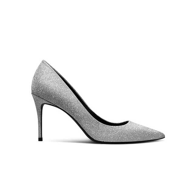 Women's silver 100 lady flash wedding new sexy shoe shoes stilettos shoes crystal point diamond rZq4rAw