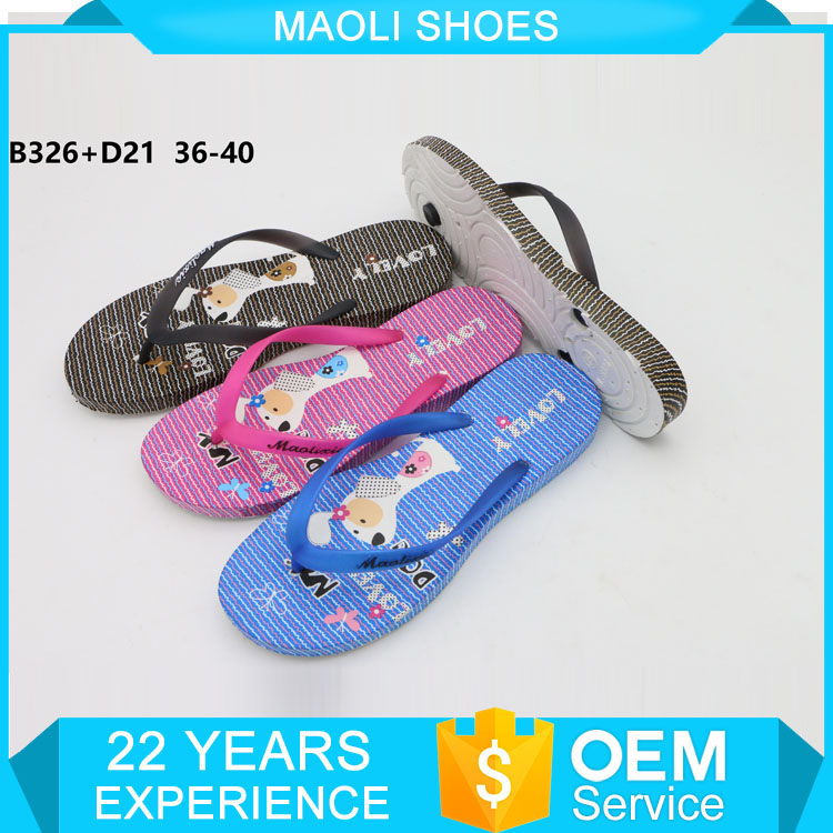 Sublimation printable kids slipper blank flip flop foor lady pvc shoes