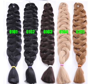 Hotsale jumbo hair ombre braid Two Tone braiding fake synthetic hair ponytails super jumbo braiding hair