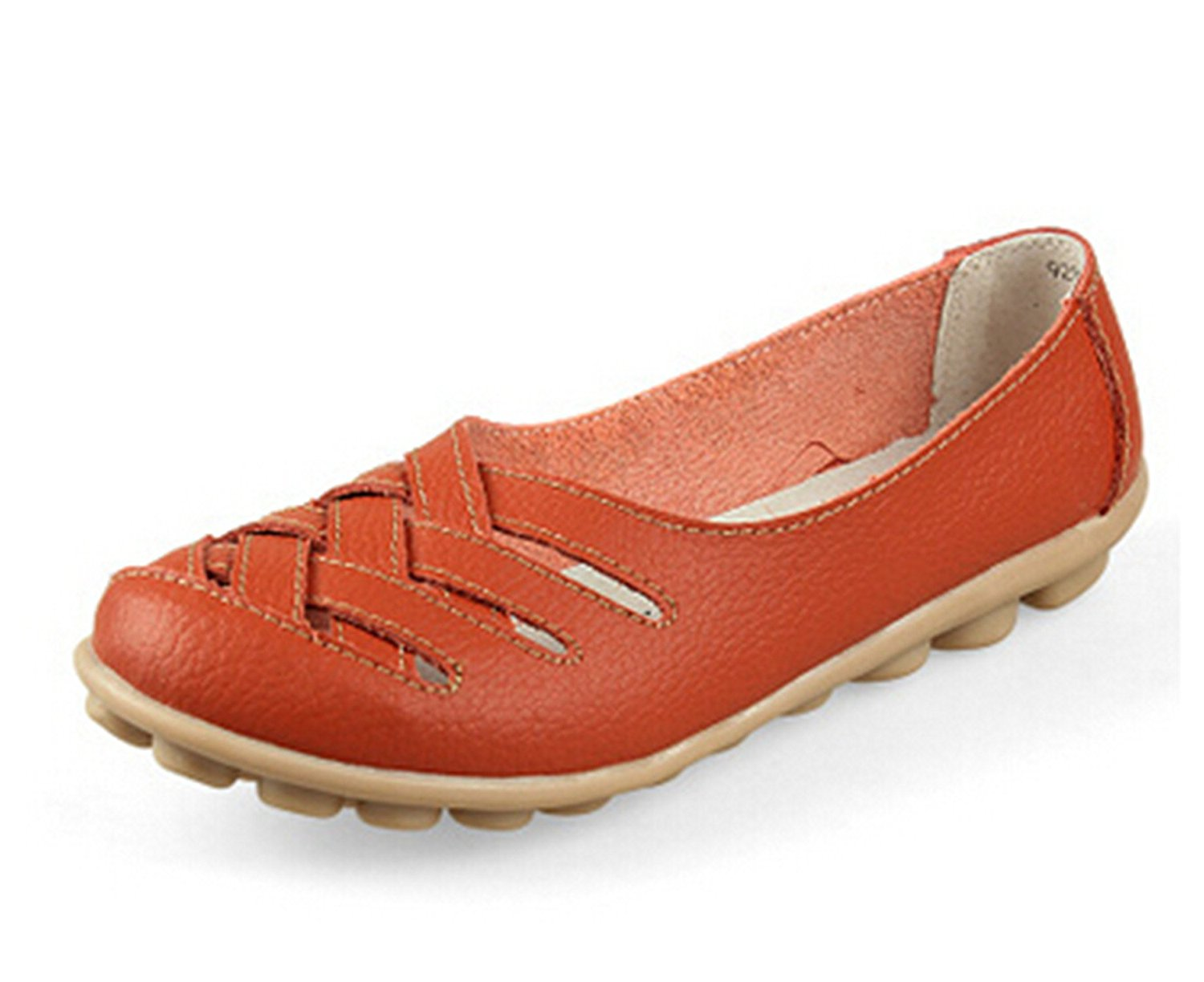 Surprising Day Flats Size35-40 Fashion 7 Color Cheap Genuine Leather Flats Mother Shoes for Women