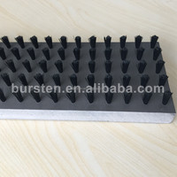 replaceable plastic base staple set bristle panel brush