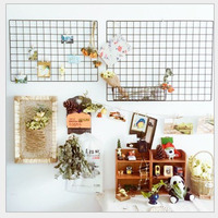 Grid photo wall ,wire grid panels , metla mesh grid panel and wall decor frame