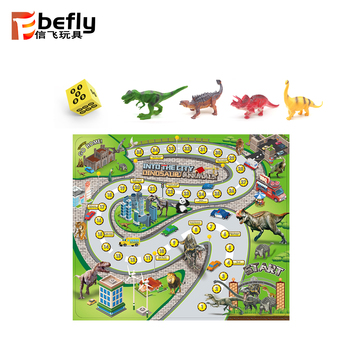 Funny family dinosaur game road play mat for children