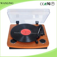 Multiple bluetooth turntable vinyl record player with built in speakers