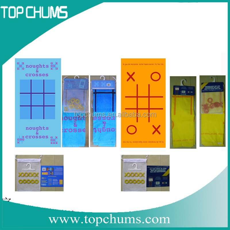2 person personalized Noughts&cross Tic tac toe twister beach game towel