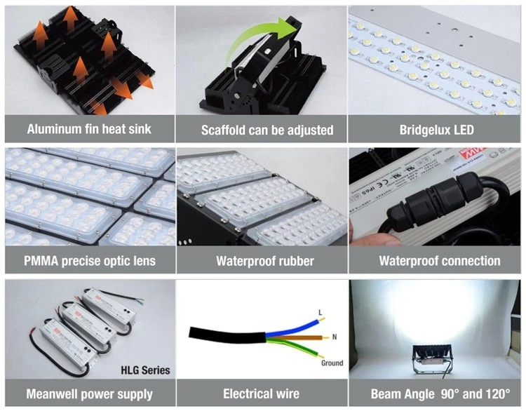 IP65 Waterproof 250W Module LED Flood Light for Tunnel Light
