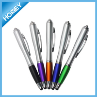 Fancy 3 in 1 function new gift LED stylus pen