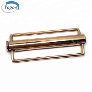 Factory Direct Polished Interlocking Gold Zinc Alloy Belt Buckle Parts