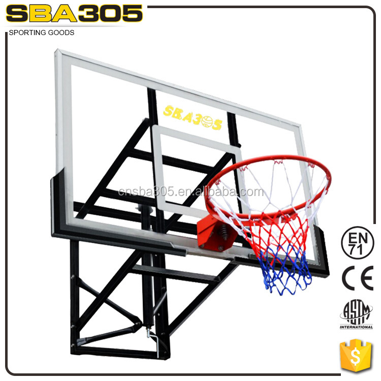 height basketball ring and board with hoop