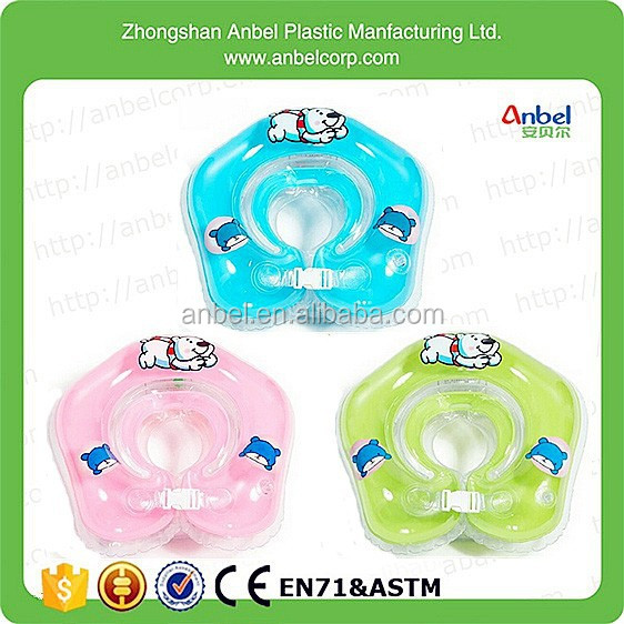 "17"" Anbel High Quality Infant Swimming Neck Float Inflatable Tube Ring Baby Neck Ring Safety"