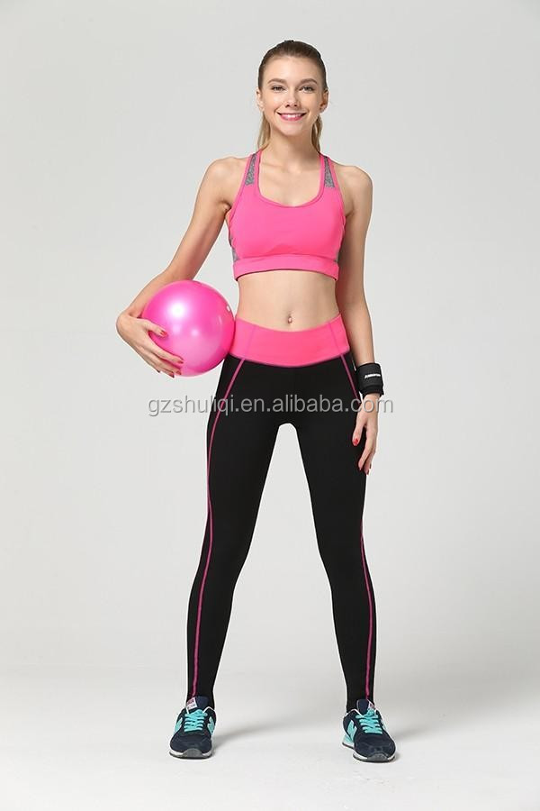 Youth beautiful girl fitness wear pants waist adjuster for pants polyester/spandex track pants women pictures in factory price